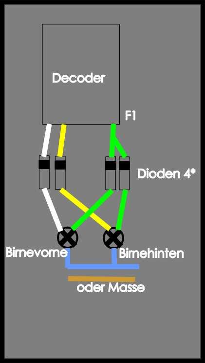 Schaltplan Rangier-Lok-Beleuchtung